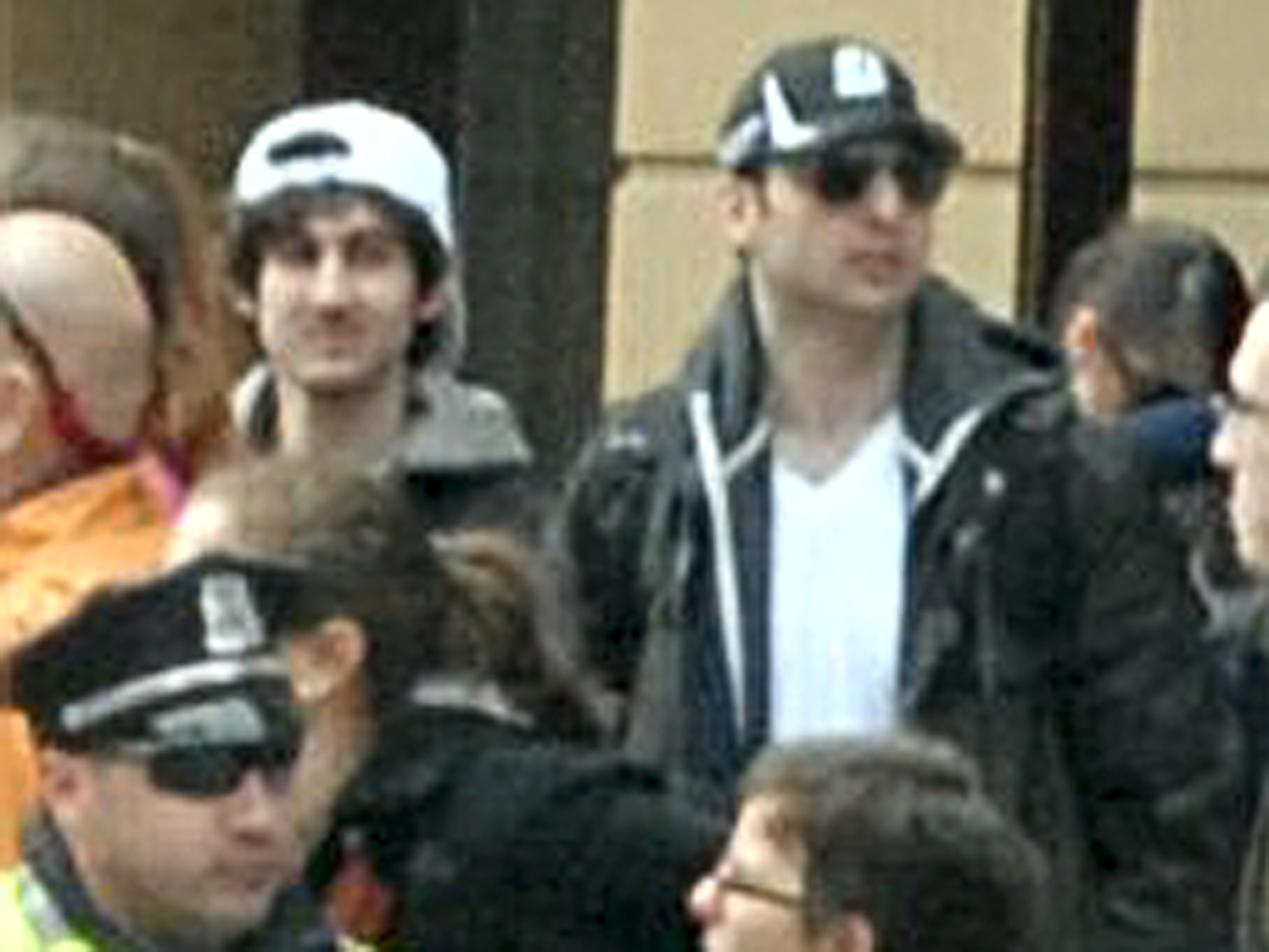 FBI photo of Boston Marathon bombing suspects