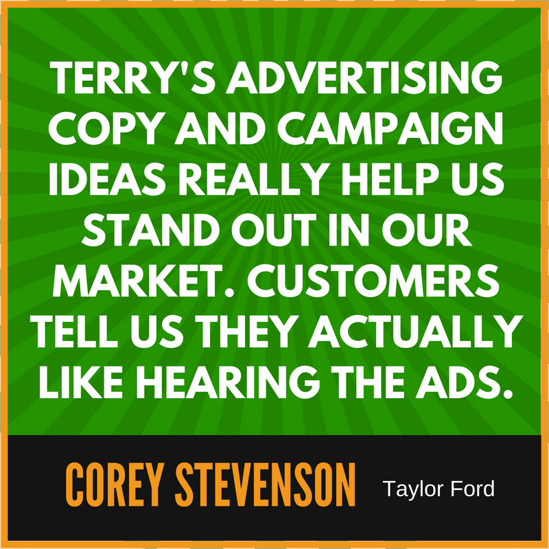 Automotive Radio Spots by Terry Lancaster